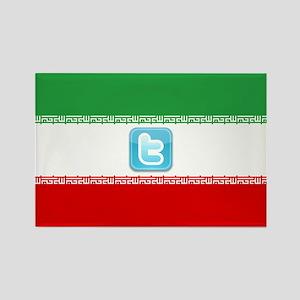 Iran Tweet Rectangle Magnet (100 pack)