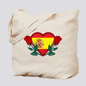 Heart Spain Tote Bag