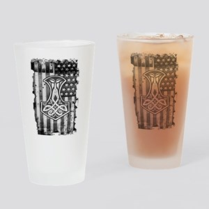 American Hammer Drinking Glass