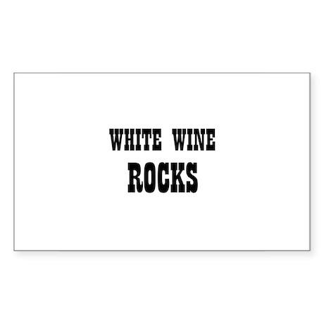 WHITE WINE ROCKS Rectangle Sticker
