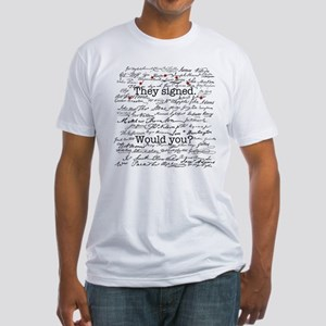 Declaration of Independence Signature Fitted Tee