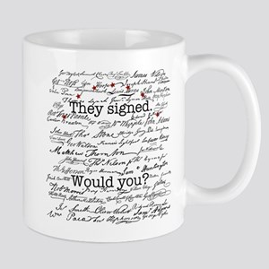 Declaration of Independence Signature Mug