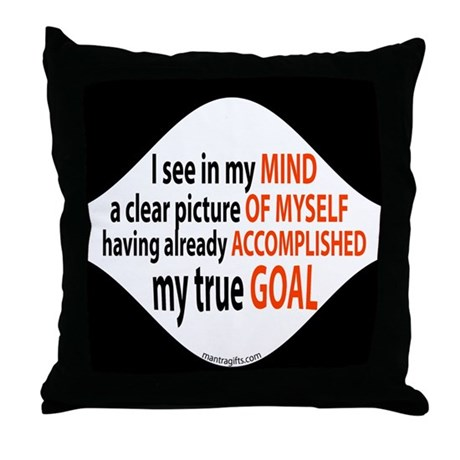 Goals Already Accomplished Throw Pillow