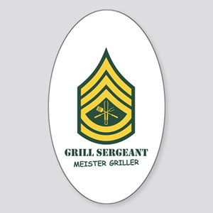 Grill Sgt. Oval Sticker