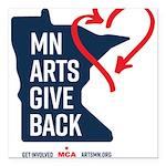 MN Arts Give Back Square Car Magnet 3
