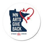 MN Arts Give Back Round Car Magnet