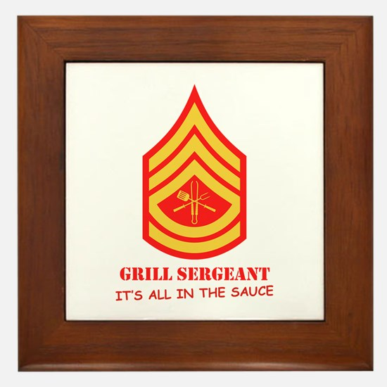 Grill Sgt. Framed Tile
