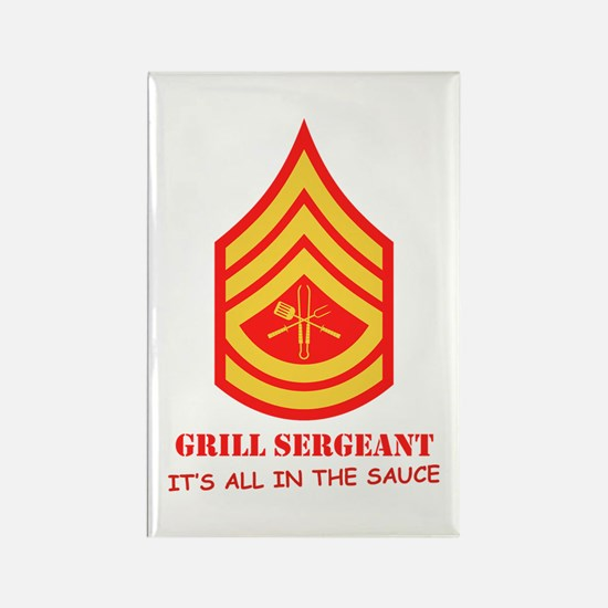Grill Sgt. Rectangle Magnet