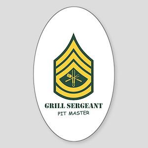 Grill Sgt. Oval Sticker
