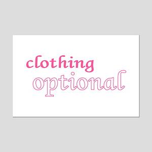 Optional (Pink) Mini Poster Print