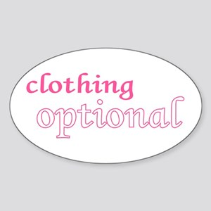 Optional (Pink) Oval Sticker
