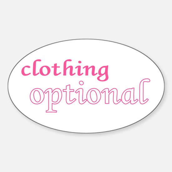 Optional (Pink) Oval Decal
