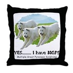 Multiple Great Pyrenees Syndr Throw Pillow