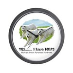Multiple Great Pyrenees Syndr Wall Clock