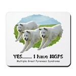 Multiple Great Pyrenees Syndr Mousepad