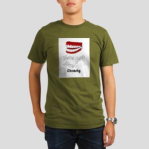 """""""Nom Nom Nom Chomsky"""" Organic Men's T-Sh"""