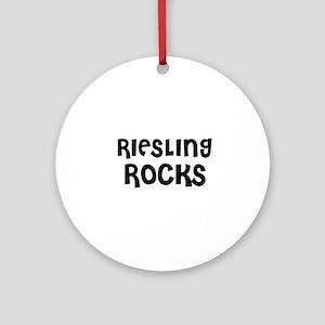 RIESLING ROCKS Ornament (Round)