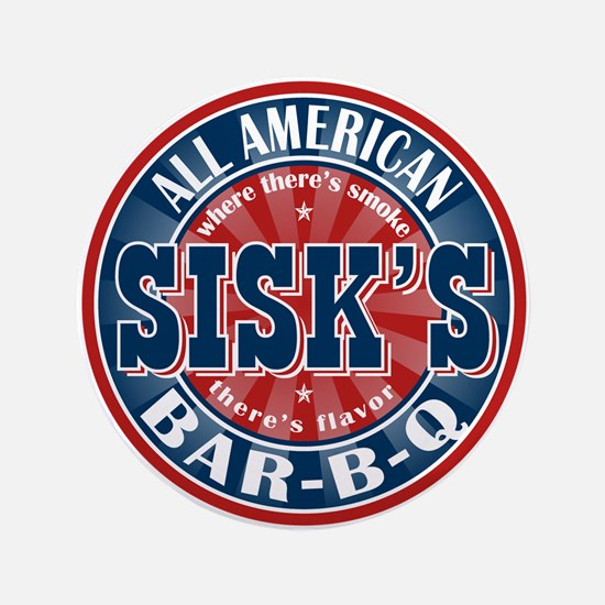 "Sisk's All American BBQ 3.5"" Button"