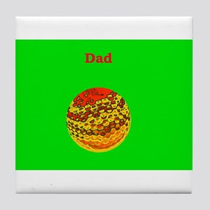 Dad / Father's Day Golf Ball Tile Coaster / Trivet