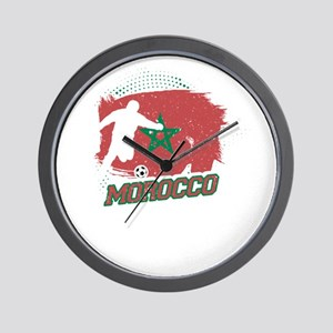 Football Worldcup Morocco Moroccans Soc Wall Clock