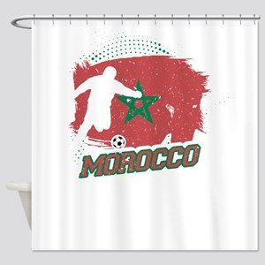 Football Worldcup Morocco Moroccans Shower Curtain