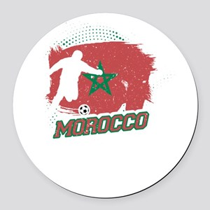 Football Worldcup Morocco Morocca Round Car Magnet