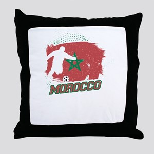 Football Worldcup Morocco Moroccans S Throw Pillow