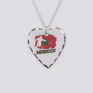 Football Worldcup Morocco Mor Necklace Heart Charm