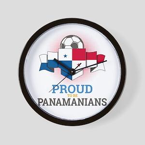 Football Panamanians Panama Soccer Team Wall Clock