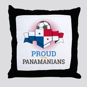 Football Panamanians Panama Soccer Te Throw Pillow