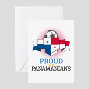 Football Panamanians Panama Soccer Greeting Cards