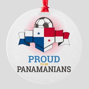 Football Panamanians Panama Soccer Round Ornament