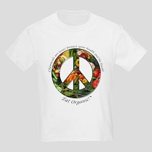 Kids Light T-Shirt Peace Organic Vegetables