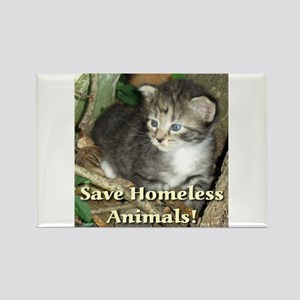 Save Homeless Animals Rectangle Magnet