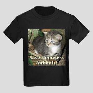 Save Homeless Animals Kids Dark T-Shirt