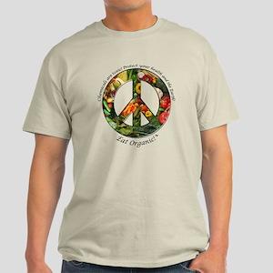 Light T-Shirt Peace Organic Vegetables