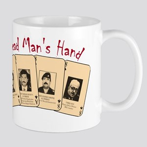 Dead Man's hand on Black Mug