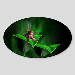 Leaf Fairy Oval Sticker