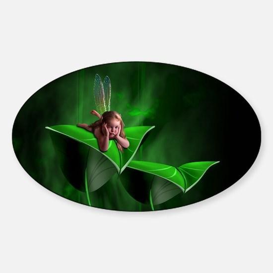 Leaf Fairy Oval Decal