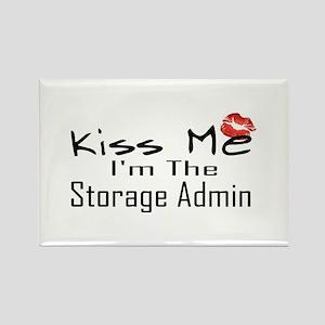 Kiss Me Storage Admin Rectangle Magnet