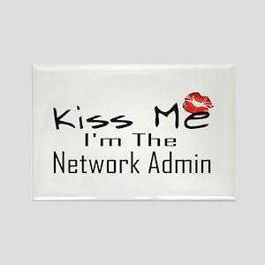 Kiss Me Network Admin Rectangle Magnet