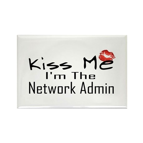 Kiss Me Network Admin Rectangle Magnet (10 pack)