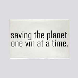 Saving the planet Rectangle Magnet