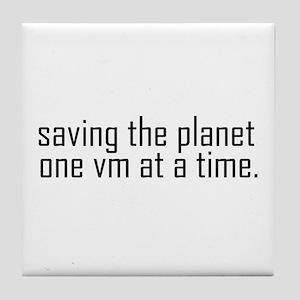 Saving the planet Tile Coaster