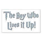 The Boy Who Lives It Up Rectangle Sticker 10 pk)