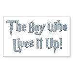 The Boy Who Lives It Up Rectangle Sticker
