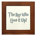 The Boy Who Lives It Up Framed Tile