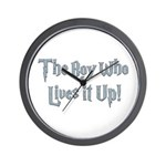 The Boy Who Lives It Up Wall Clock