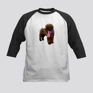 Brown PWD with Flag Kids Baseball Jersey