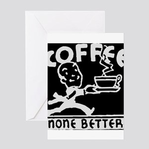 Fresh Coffee Greeting Card